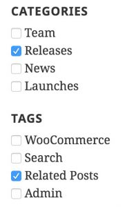 Filter content by taxonomies like categories and tags
